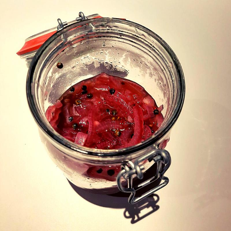 Pickles d'oignons rouges
